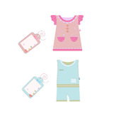 Collection of baby and children clothes Stock Images