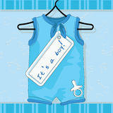 Collection of baby designs. For baby arrival, cards and background Stock Image