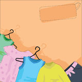 Collection of baby designs. For baby arrival, cards and background Stock Photography