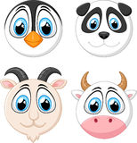 Collection baby face animal Stock Image