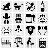 Baby and newborn vector icon set Royalty Free Stock Photo