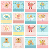 Collection of baby's postcards Royalty Free Stock Photo