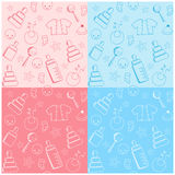 Collection baby seamless. Royalty Free Stock Photos