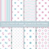 Collection of baby seamless patterns Royalty Free Stock Image