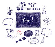 Collection -- back to school Royalty Free Stock Images