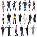 Collection Back view of  business people. Royalty Free Stock Photo
