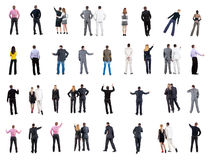 Collection Back View Of Business People Stock Image