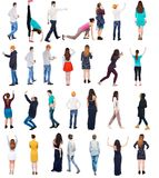 Collection Back View People Royalty Free Stock Photography