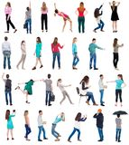 Collection Back View People Royalty Free Stock Images