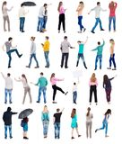 Collection Back View People Royalty Free Stock Photo