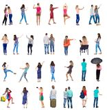 Collection Back View People Stock Images