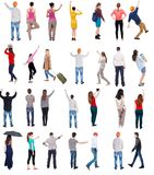 Collection Back View People Royalty Free Stock Photos