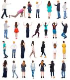 Collection Back View People Stock Photography