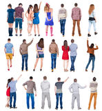 Collection  Back view people . Stock Image