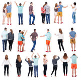 Collection  Back view people . Royalty Free Stock Images