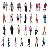Collection of people's back view Stock Image