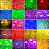 Collection of background with stars Abstract twinkled background. Collection of background with  stars - Abstract twinkled background with bokeh defocused lights Stock Photos