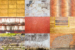 Collection of background wall Royalty Free Stock Images