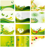 Collection of backgrounds Royalty Free Stock Images