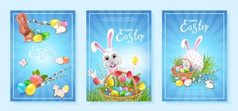 Collection backgrounds Happy Easter stock photos