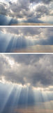 Collection of backgrounds with sunset sky Royalty Free Stock Photo