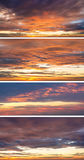 Collection of backgrounds with sunset sky.  Stock Images
