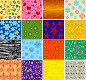 Collection of backgrounds. Vector. Stock Images