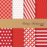 Collection of 8 backgrounds in vintage style Stock Images
