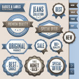 Collection of  badges and labels Royalty Free Stock Image