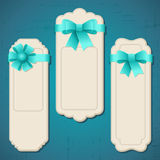 Collection of badges, labels, tags with bows and Royalty Free Stock Photo