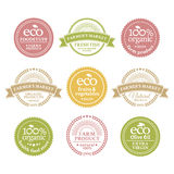 Collection of 6 badges in retro style Royalty Free Stock Image