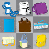 Collection bag children and adults Royalty Free Stock Photography