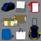 Collection bag children and adults Royalty Free Stock Images