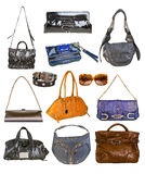 Collection of bags Royalty Free Stock Images