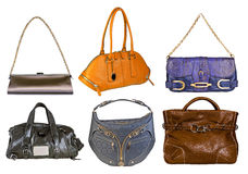 Collection of bags Royalty Free Stock Photos
