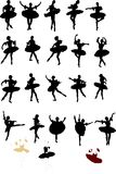 Collection of ballet dancers Royalty Free Stock Photo