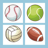 Collection balls sport icons Stock Photography