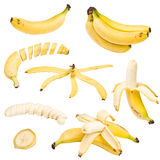 Collection of banana Stock Image