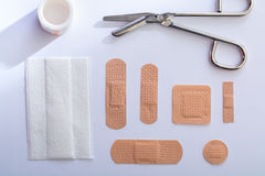 Collection of bandages Royalty Free Stock Image