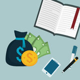 Collection banking finance elements Royalty Free Stock Images