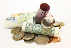 Collection of banknotes Royalty Free Stock Photography