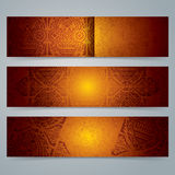 Collection banner design, African art background. Royalty Free Stock Photo