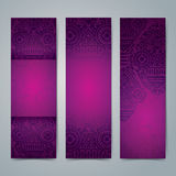 Collection banner design, African art background. Stock Photography