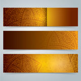 Collection banner design, African art background. Royalty Free Stock Photography