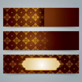 Collection banner design, Asian art background. Royalty Free Stock Images