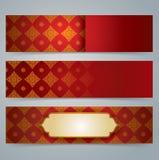 Collection banner design, Asian art background. Stock Photos