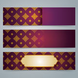 Collection banner design, Asian art background. Stock Image