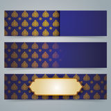 Collection banner design, Asian art background. Stock Photography