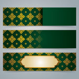Collection banner design, Asian art background. Royalty Free Stock Photos