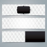 Collection banner design, Black and white upholstery background. Royalty Free Stock Images